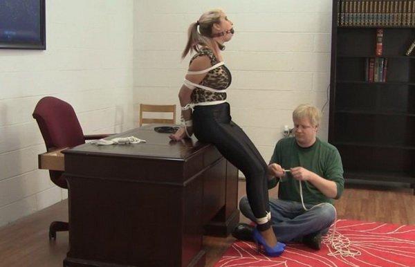 heels and bondage Sweater rope