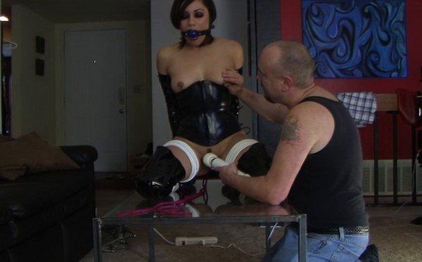 Boot corset bondage