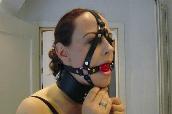 New porn bdsm self bondage piercing