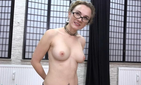Sailoress Topless In Steel Collar And Cuffed At Bondage -5332