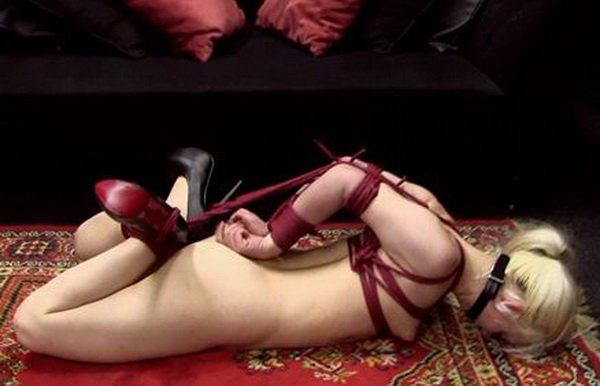 Perfect. girls elbows tied touching bondage