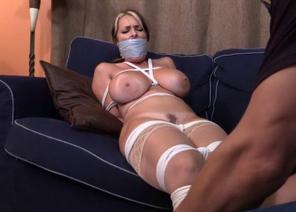 image Full figured secretary taped up and robbed Part 6