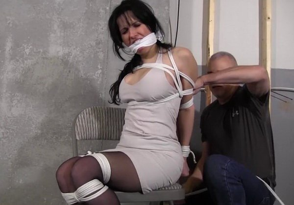 Girl Tied Up Tape Gagged