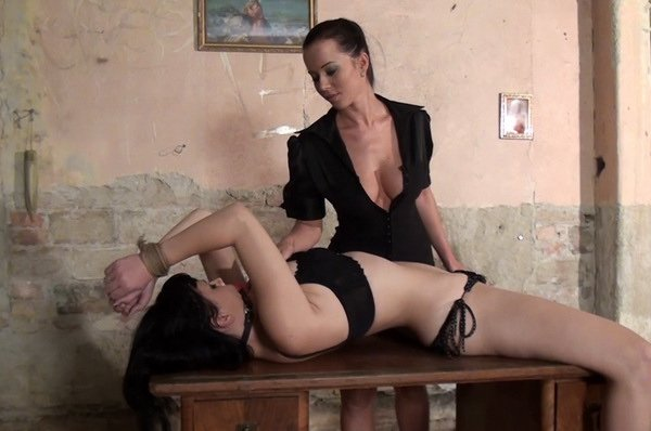 Cindy D And Nicola And In Erotic Bondage Play
