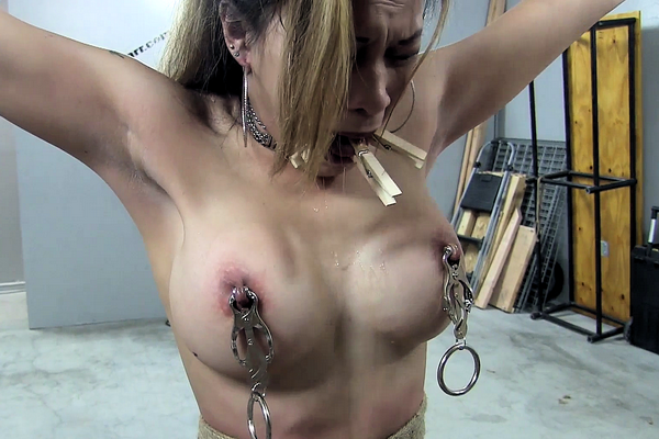 Tied up and gagged slut holly wood gets treated like a whore tmb abuse
