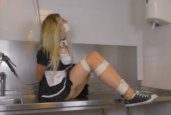 Something is. French maid tied up and gagged with you