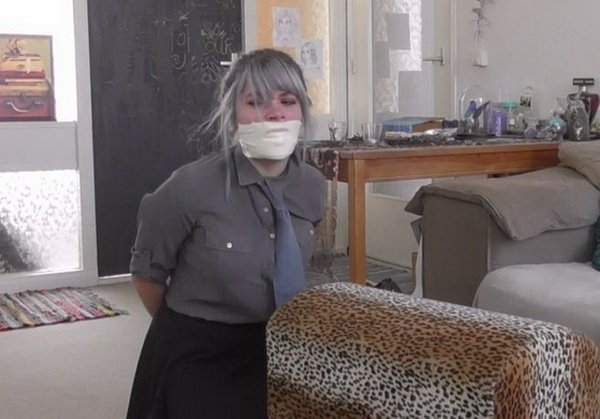 Begrænsning Reb Luna Grey - College Girl Zip Tied-2297