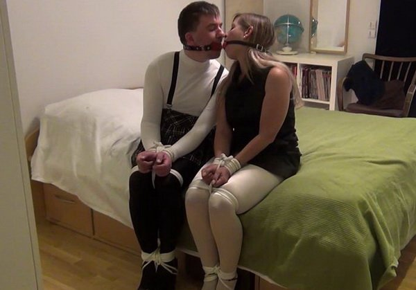 Consider, that door to door gagged and bound sexy girl part 1 with you
