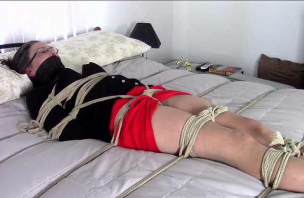 Genevieve Rope Bondage - Bed Bound And Bothered, Ball Tied -2448