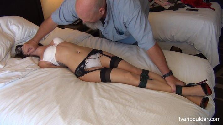 Hogtied man Male bondage