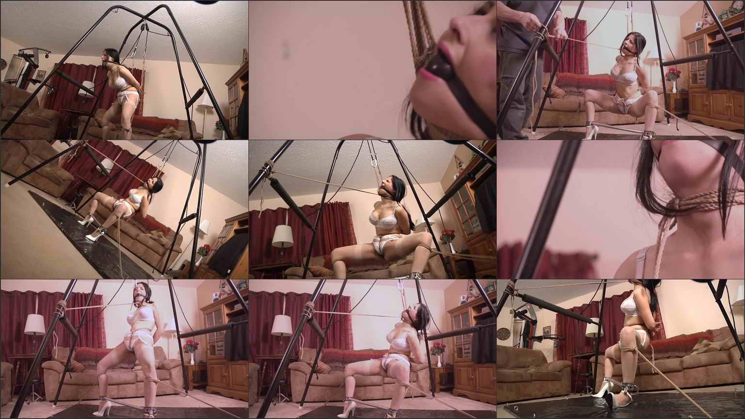 Pain slut in predicament bondage and suffering picture